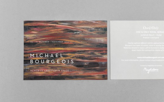 Print Material for Michael Bourgeois' Exhibition in Dubai