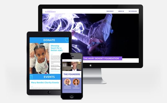 Weinblum + Stahl creates a new online appearance for the Mary Bendet Foundation
